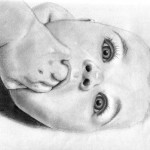 This is my baby girl at 3 months old. (Graphite and charcoal)